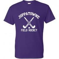 Joppatowne Field hockey tee purple ( front only)