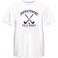 Joppatowne Field hockey tee white ( front only)