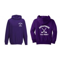 Joppatowne Field hockey hooded sweatshirt purple ( front and back)