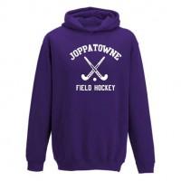Joppatowne Field hockey hooded sweatshirt purple ( front only)
