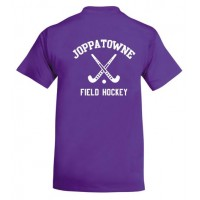 Joppatowne Field hockey tee purple ( front and back)