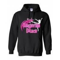 Kingsville Black/pink hooded sweatshirt