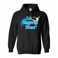 Kingsville Black/Blue hooded sweatshirt