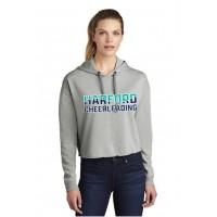 Harford Cheerleading grey Crop hooded sweatshirt