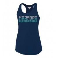 *Harford Cheerleading navy spandex RHINESTONE TANK ( Outfit)