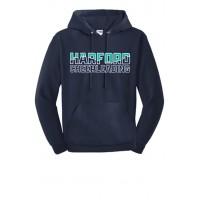 Harford Cheerleading logo hooded sweatshirt navy