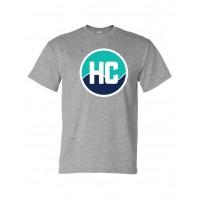 Harford Cheerleading circle logo tee gray