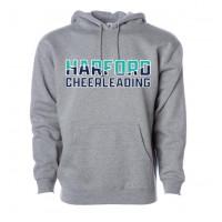 Harford Cheerleading gray hooded sweatshirt