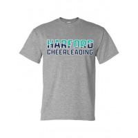 Harford Cheerleading logo tee gray