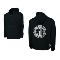 E-street Pack and Go quarter zip jacket black
