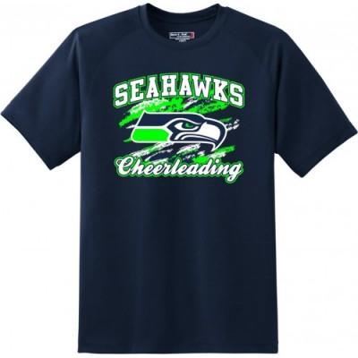Joppatowne Seahawks short sleeve cheerleading t-shirt (Navy)