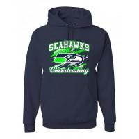 Joppatowne Seahawks Cheerleading Hooded Sweatshirt (Navy)
