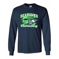 Joppatowne Seahawks long sleeve cheerleading t-shirt (Navy)