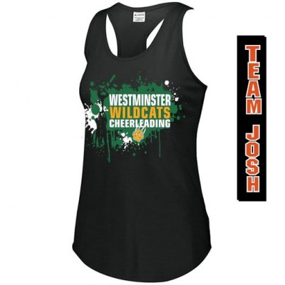 "Westminster Wildcats T-Back tank "" Team Josh"""