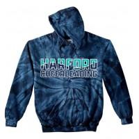 *Harford Cheerleading Navy tie dye Hooded sweatshirt