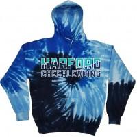 *Harford Cheerleading Ocean blue hooded sweatshirt