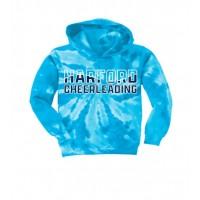 *Harford Cheerleading teal tie dye hooded sweatshirt
