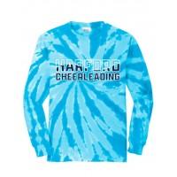 *Harford Cheerleading Teal tie dye long sleeve t-shirt