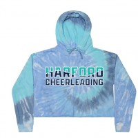 Harford Cheerleading Lagoon blue Crop sweatshirt