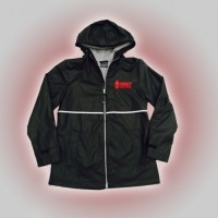 Mercy Ladies rain jacket  black with embroidered logo