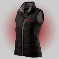 Mercy Ladies Holloway black vest with embroidered logo