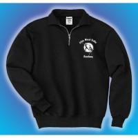 White Marsh Ballet quarter zip crew sweatshirt
