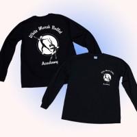 White Marsh Ballet long sleeve logo t-shirt black
