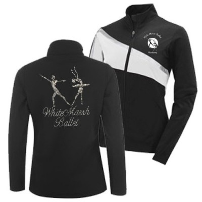 White Marsh Ballet Academy Jacket ( black)