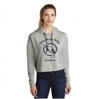 White Marsh Ballet Crop hooded sweatshirt gray