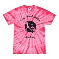 White Marsh Ballet pink tie dye tee
