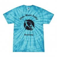 White Marsh Ballet Turquoise tie dye tee