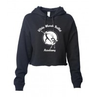 White Marsh Ballet Crop hooded sweatshirt black