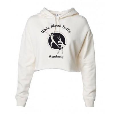 White Marsh Ballet Crop hooded sweatshirt creme