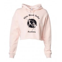 White Marsh Ballet Crop hooded sweatshirt pink