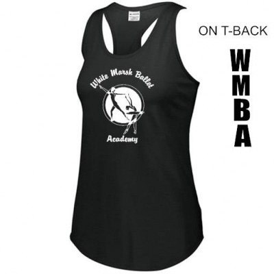 White Marsh Ballet T-back tank top