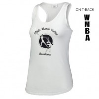White Marsh Ballet T-back tank top white