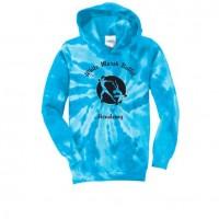 White Marsh Ballet tie dye hoody blue